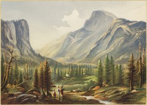 south dome, washington column, half dome painting